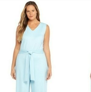 Sky blue sleeveless jumpsuit NWT